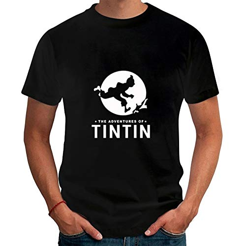 23e8c666fe3 Cartoon Tintin Adventure Classic Animation T Shirts Summer Slim Fit Casual  Man Tees Fashion Brand Clothes
