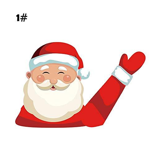 WARMTOWE Cartoon Funny Christmas Moving Aufkleber Auto Heckscheibe Fenster Wischer Aufkleber Wagging Arm Aufkleber Windschutzscheibe Decals