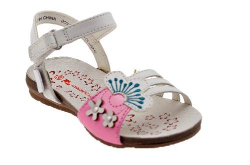 Lumberjack Fixie Enfants Sandales Neuf Chaussure. Blanc / Rose