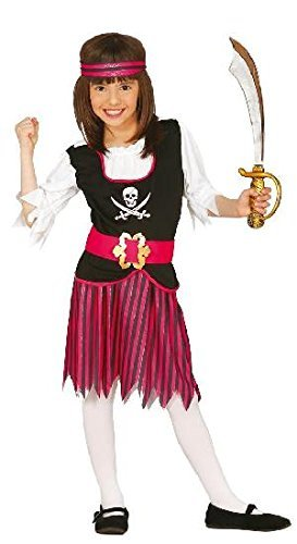 Mädchen Piraten Kostüm (7-9 - Piraten-mädchen-shirt
