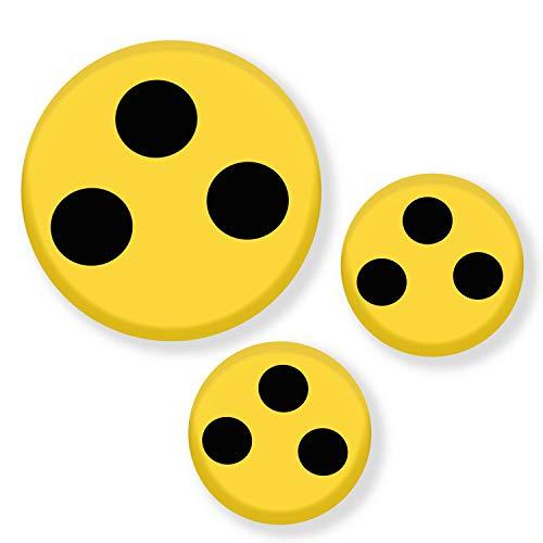 Polarkind 3er Set Blindenabzeichen aus Metall mit Anstecknadel Blindenplakette Verschiedene Größen -
