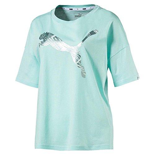 Puma Damen Summer Fashion Tee Shirt, Island Paradise, XL (Metallic-print-bluse)