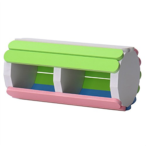 Small Animals Pet Hamster Wood Wooden Double Bed Nest Cage Hamster House