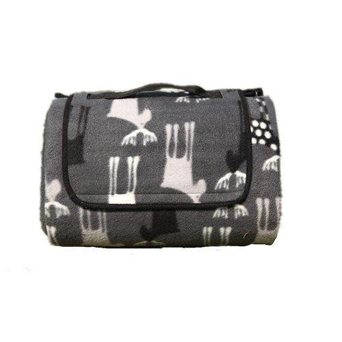 Nasis Outdoor Picknickdecke Zeltbodenmatten feuchtigkeitsbeständig Decke für Reise oder Urlaub verdickt super Qualität Sonderangebot 130x170cm AL7030 (grau)