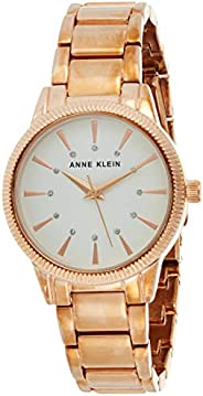 Anne Klein Womens Quartz Watch, Analog Display and Stainless Steel Strap AK-3056WTRG