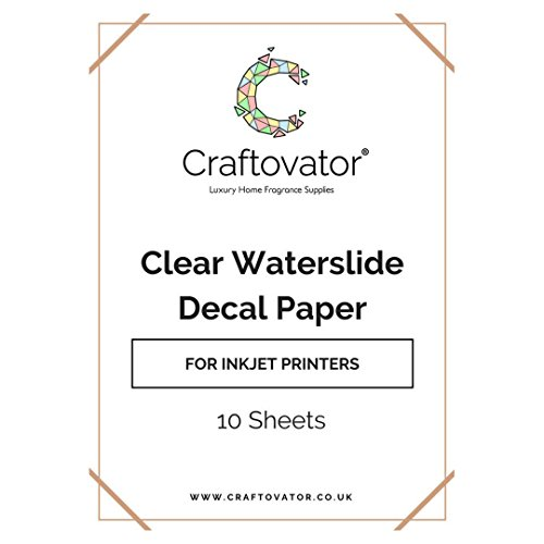 10 x Clear INKJET Waterslide Decal Paper | A4 Transfer Sheets