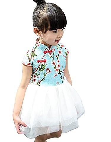 Imixcity® Bébé Fille Organza Tutu Plissé Robes D'été Enfant Princess