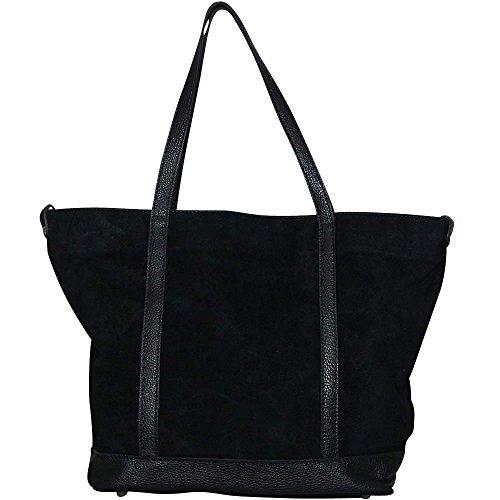Chapeau-tendance - Sac cabas daim noir Madoka - - Femme