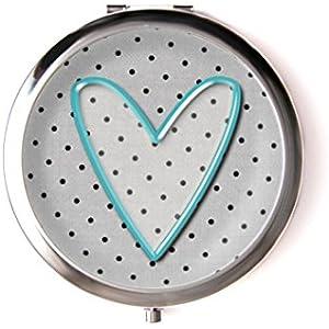 Taschenspiegel mit cabochon, Herz