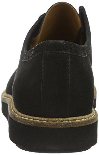 Clarks Glick Bayview, Chaussures Richelieu à Lacets Femme Noir (Black)