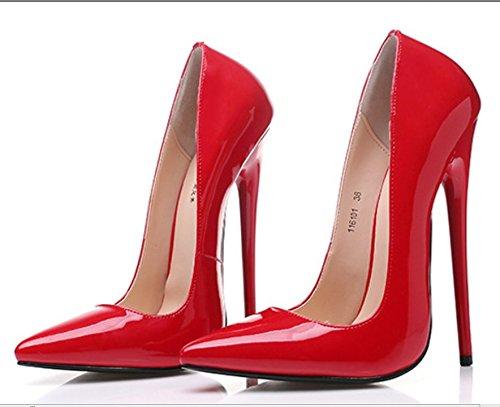 super tacchi sexy scarpe col tacco alto scarpe di cuoio con puntata grandi scarpe 42