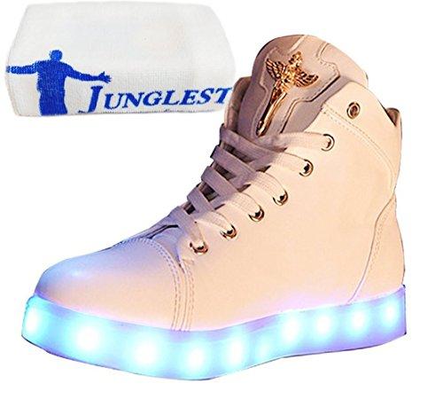 present Fasching kleines Partyschuhe Damen Handtuch Sneaker Leuchtend Sportsc Weiß Hohe Led Usb junglest® Aufladen HHdrPw