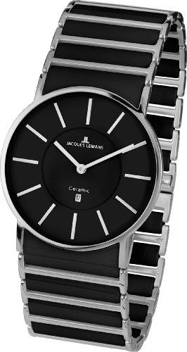 Jacques Lemans Classic Herren-Armbanduhr XL York Analog Keramik 1-1648A
