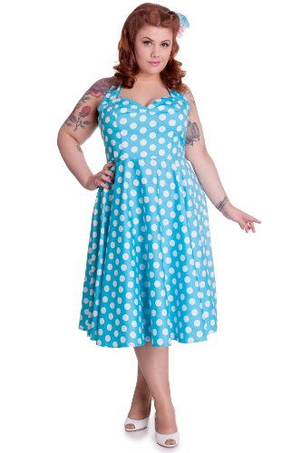 Ligne bunny robe robe mERIAM 4156 aqua Bleu - Aqua
