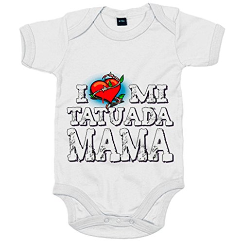 Body bebé I Love mi mamá tatuada - Blanco, 6-12 meses