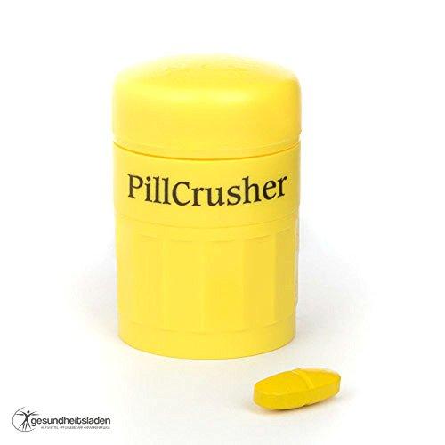 Tablettenmörser mit Tablettenfach - zum einfachen pulverisieren von Medikamenten - ideal um das Schlucken von Tabletten zu erleichtern