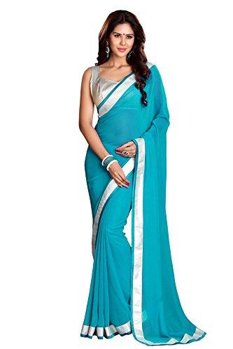 Mirchi Fashion - Sari - Femme - Turquoise - Taille Unique
