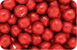Luxury Solid Milk Chocolate Crimson Red Foiled Balls (500g...