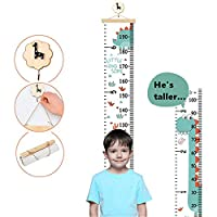 Kids Growth Chart Removable Canvas Roll Up Height Record Chart Ruler for Children
