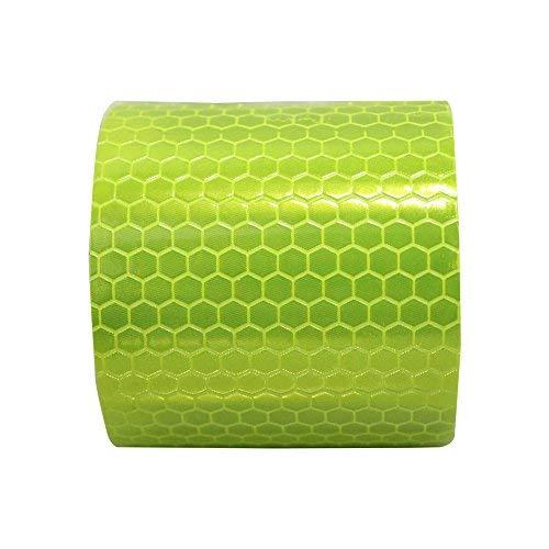 Auto reflektierender rolle Klebeband Aufkleber Conspicuity Reflektierende Sicherheitsband Warnung Mark Leuchtbakenstreifen Band Selbstklebende Reflektor Streifen1″X9.8′Fluoreszierend grün 1Stück -