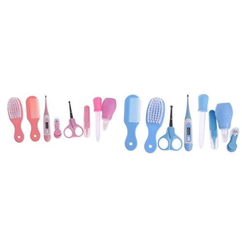 Manyo 8pezzi Neonata Grooming Kit per unghie capelli naso sanitario termometro pennello kit
