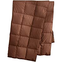 """Down Blanket for Indoor Home and Outdoor, Lighteweight and Portable Peach Skin Sports Blanket, Chocolate 127x178cm(50""""x70"""")"""