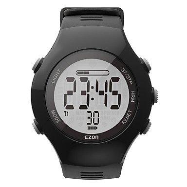 Meet Global Supermarket-Smartwatches@New Arrival EZON T043 Optical Sensor Heart Rate Monitor Fitness Digital Watch Pedometer Calorie Counter Men Women Sports Watch , black