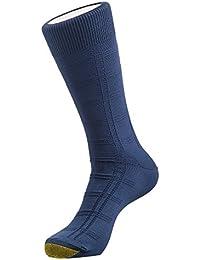 Men's premium executive formal cotton socks (Calf length,Blue)