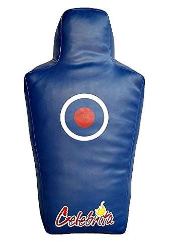 Celebrita Italie cuir MMA Dummy - sac Rez-de-chaussée et de l'anatomie Pound poinçonnage en forme MMA360 Leather-Blue H40