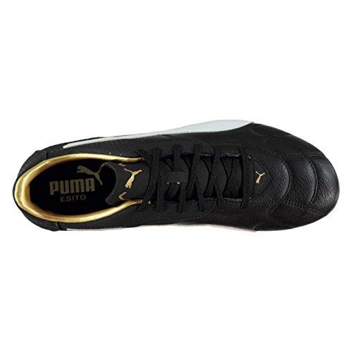 Puma , Chaussures de foot pour homme Blk/Wht/gold