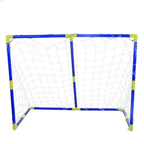 NICOLAS Tragbare Abnehmbare Kinder Große Fußballtor Fußball Tür Set Für Sport, Fußballer (Color : Blue) (12 X 8 Fußballtore)