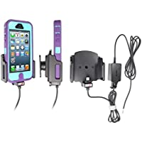 Brodit Molex Aktiv-Halter Adapter System mit Zertifiziertem Apple Ladekabel 527504 für Apple iPhone 5/5S/5C Einstellbar: W:62-77/D:9-13