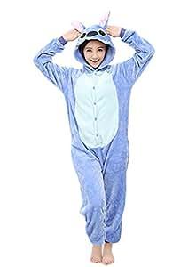 Yimidear® Unisex Pigiama Adulto Animale Cosplay Halloween Costume Attrezzatura (Blue Stitch, M)