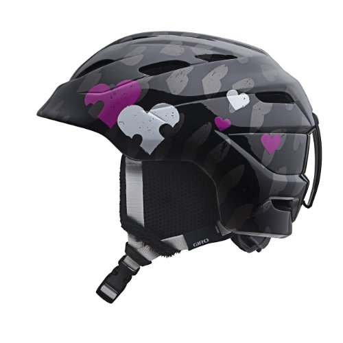 Giro Helm Junior Nine. 10 Snow, Black Heart Helix (Giro Ski-jugend Helm)