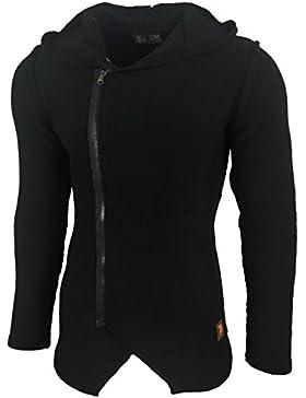 Hombre agarre Oversize Chaqueta de punto jersey Chaqueta con capucha capucha K de 17001