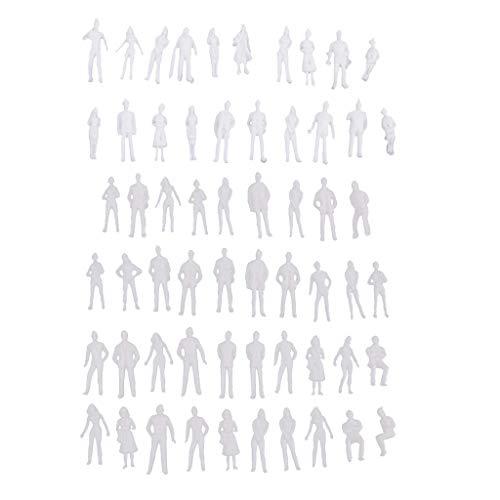 WZSP 20 Miniatur-Figuren 1/50 Architectural Human Scale Diorama Modell ABS Kunststoff Menschen