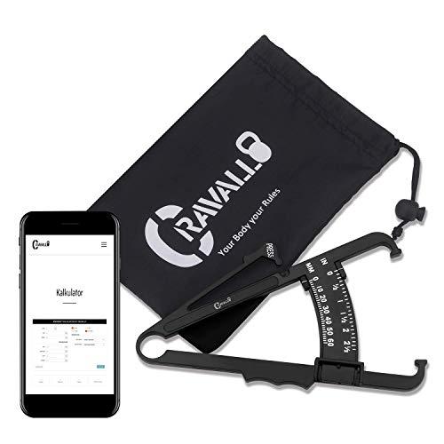 Fat Caliper (Caliper, Körperfettmessgerät, Fettzange. Unkompliziert und mit Video Anleitung von Cravallo)