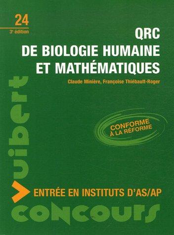 QRC de biologie humaine et mathématiques