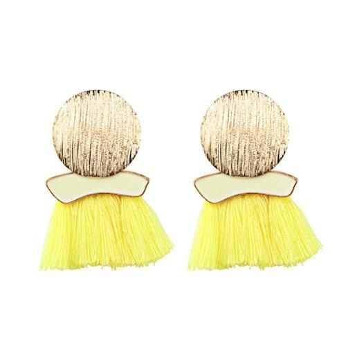 Pendientes amarillos de mujer