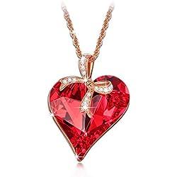 LADY COLOUR - Regalo de amor - Collar con cristales de SWAROVSKI® - la coleccion Corazon de Cristal