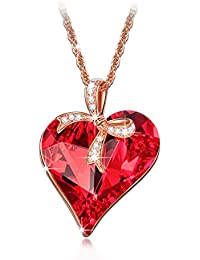 LADY COLOUR - Cadeau d'amour - Collier Femme - cristaux de SWAROVSKI® - la collection CRISTAL COEUR