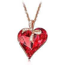 Lady colour - Regalo del amor - Collar mujer con cristales de Swarovski - la coleccion Corazon de Cristal