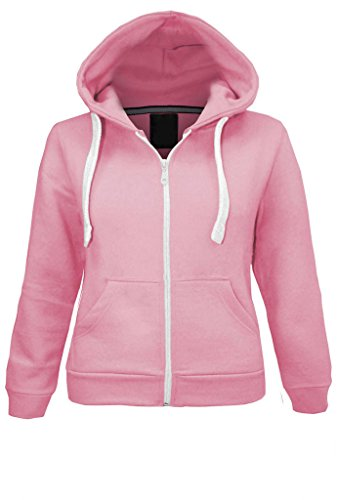 Parsa Fashions ® Kids Unisex Plain Fleece Hoodie Girls Boys Hoodied Top Sweatshirt Zipper Years 1 Years to 13 Years