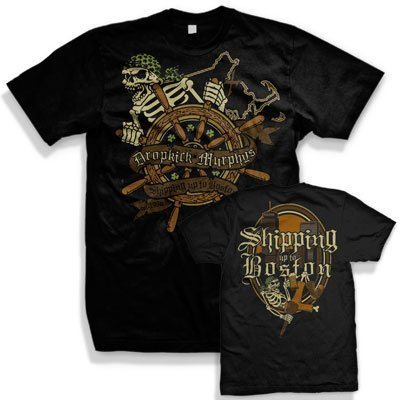 Dropkick Murphys - Uomo Shipping Up To Boston T-Shirt, XX-Large, Nero