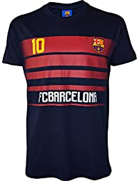 T-shirt Lionel MESSI - N°10 - FC BARCELONE - Collection officielle - FC BARCELONA - BARCA - Football club Espagne - Tee shirt Adulte