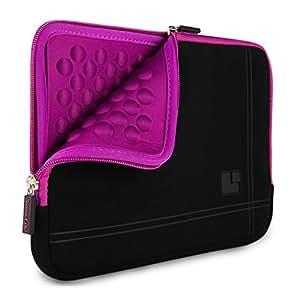 "Microsuede 15"" Universal Zippered Sleeve Pouch Case [Purple] for Lenovo 14 15.6 Inch Laptop (B50 | U31 | U530 | Y40 | Z41 | Ideapad | ThinkPad Series)"