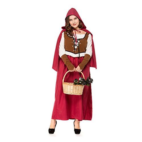 YaXuan Halloween Kostüme Cosplay Kostüm/Maskerade Frauen/Karneval Festival/Urlaub Vintage Renaissance (Farbe : Picture Color, Größe : XXL)