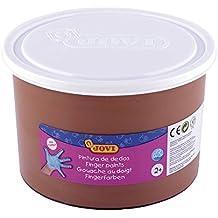 Jovi - Bote con pintura de dedos, 500 ml, color marrón (56112)
