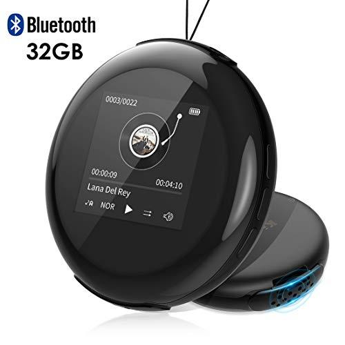 Lecteur MP3,Lecteur Baladeur avec 32G et Bluetooth 4.1 avec la Fonction de Radio FM, Enregistreur Vocal, Lecteur E-Book, Noir