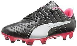 PUMA Men s Evopower Vigor 3 Lth FG Soccer Shoe Puma Black/Puma Silver/Quiet Shade/Bright Plasma 7 D(M) US